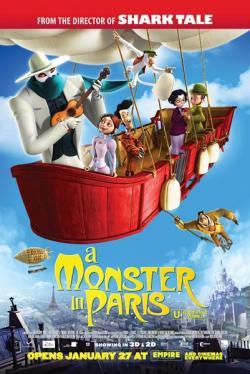 A Monster in Paris,怪兽在巴黎[3D+2D版](蓝光原版)